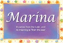 Name Marina