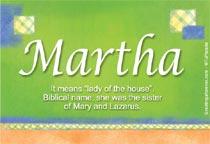 Name Martha