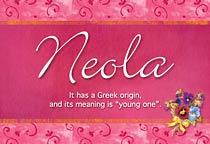 Name Neola