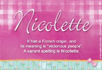 Name Nicolette