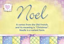 Name Noel