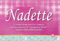 Name Nadette