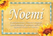 Name Noemi