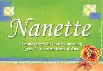 Name Nanette