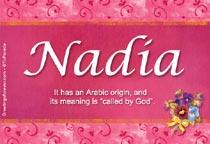 Name Nadia