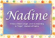 Name Nadine