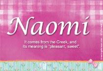 Name Naomi