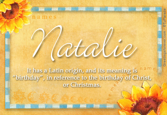 Meaning, origin and history of the name Natalie - Behind ...