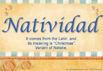 Name Natividad