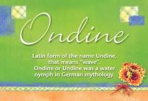 Name Ondine