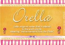 Name Orella