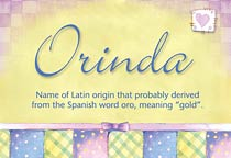 Name Orinda