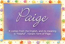 Name Paige