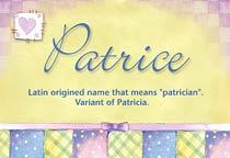 Name Patrice