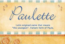 Name Paulette