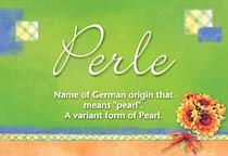 Name Perle