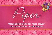Name Piper