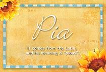 Name Pia