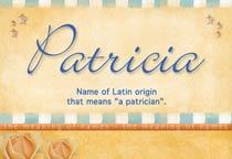 Name Patricia