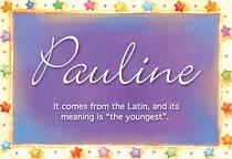 Name Pauline