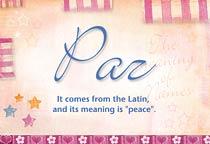 Name Paz