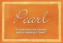 Name Pearl