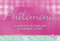Name Philomena