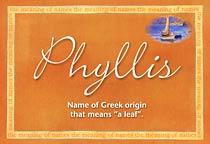 Name Phyllis
