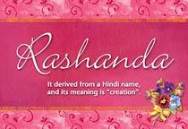 Name Rashanda