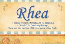 Name Rhea