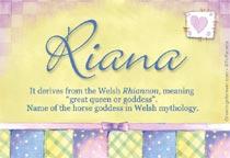Name Riana