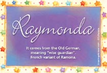 Name Raymonda