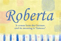 Name Roberta