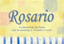 Name Rosario