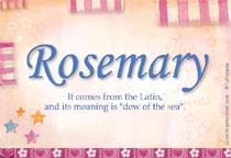 Name Rosemary