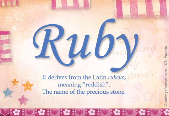 Ruby Name Meaning - Ruby name Origin, Name Ruby, Meaning ...