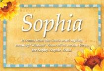 Name Sophia