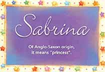 Name Sabrina