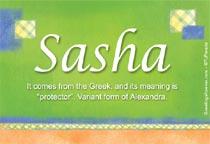 Name Sasha