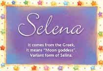 Name Selena