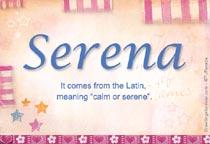 Name Serena