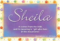 Name Sheila