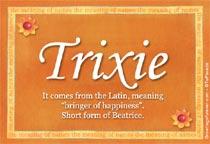 Name Trixie
