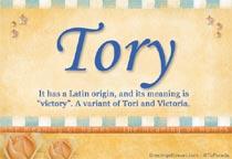 Name Tory