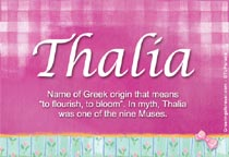 Name Thalia