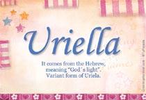 Name Uriella