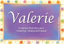 Name Valerie