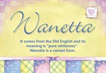 Name Wanetta