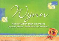 Name Wynn