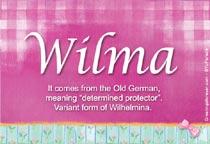 Name Wilma